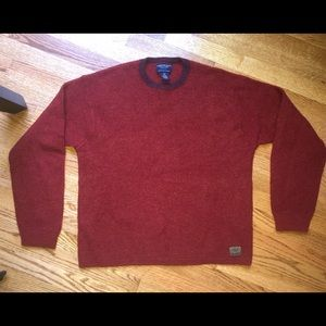 AE American Eagle Men's Waffle Wool Sweater XL